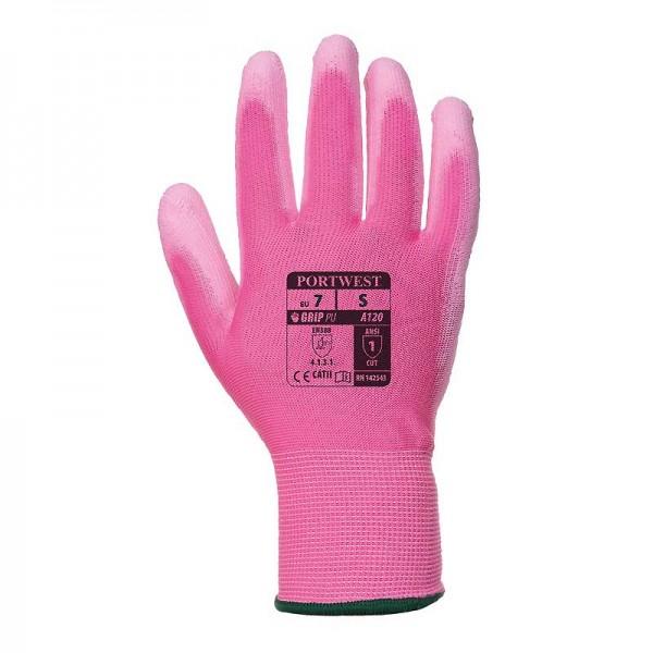 Portwest A120 - Αντιολισθητικα Γαντια Εργασιας Γενικης Χρησης Ροζ