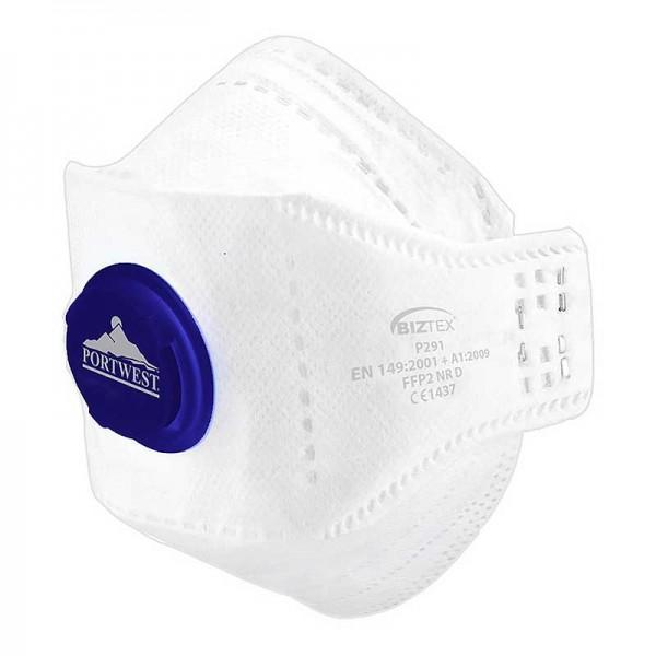 Portwest P291 - Μασκα Προστασιας Αναπνοης Αναδιπλουμενη με Βαλβιδα
