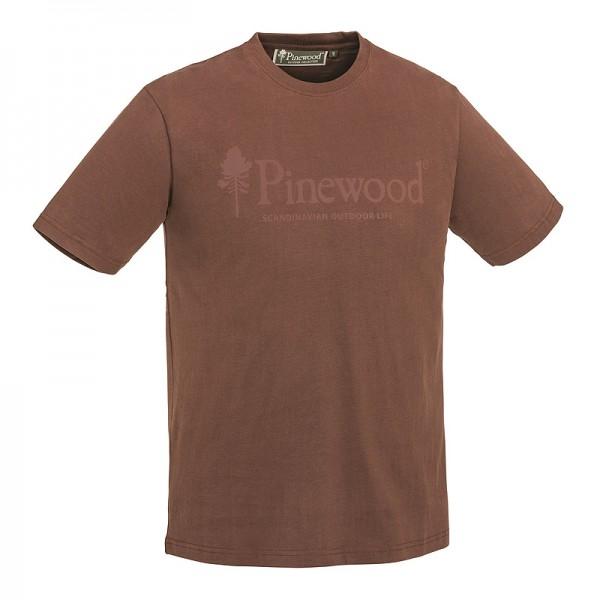 Pinewood 5445 Outdoor Life - T-Shirt Μπλουζες με Σταμπες Κυνηγιου Καφε