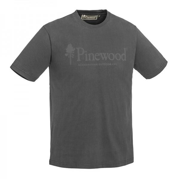 Pinewood 5445 Outdoor Life - T-Shirt Μπλουζες με Σταμπες Κυνηγιου Γκρι