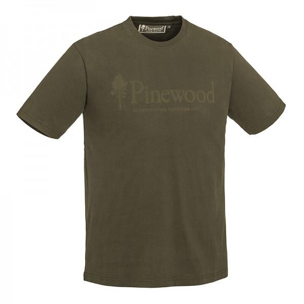 Pinewood 5445 Outdoor Life - T-Shirt Μπλουζες με Σταμπες Κυνηγιου Πρασινες