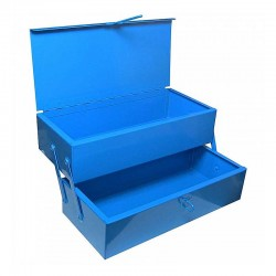 Εργαλειοθηκη Μεταλλικη Πτυσσομενη 2 Θεσεων Μπλε 25x10x10cm