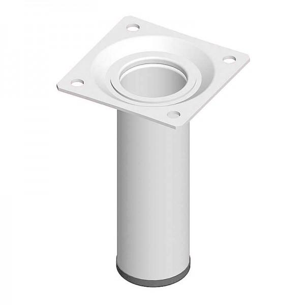 Ποδι Τραπεζιου Στρογγυλο Μεταλλικο Λευκο Φ30x100mm