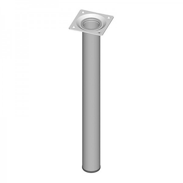 Ποδι Τραπεζιου Στρογγυλο Μεταλλικο Αλουμινιου Φ30x250mm