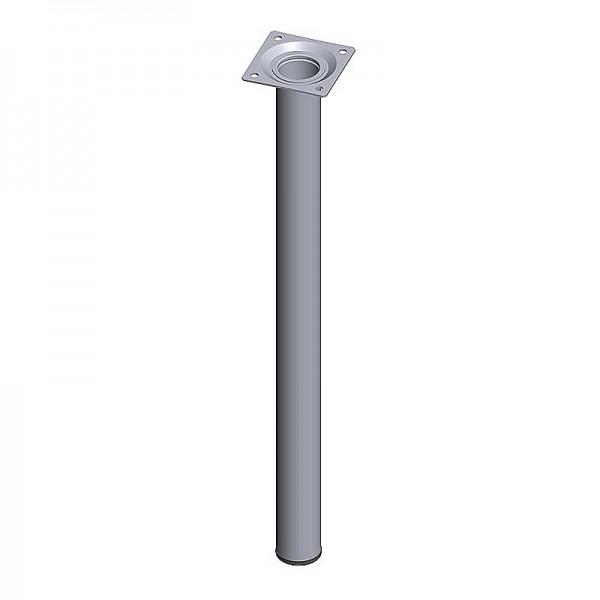 Ποδι Τραπεζιου Στρογγυλο Μεταλλικο Αλουμινιου Φ30x500mm