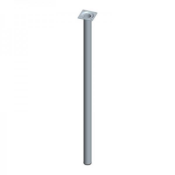 Ποδι Τραπεζιου Στρογγυλο Μεταλλικο Αλουμινιου Φ30x700mm