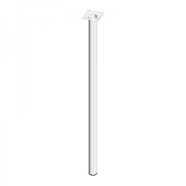 Ποδι Τραπεζιου Στρογγυλο Μεταλλικο Λευκο Φ30x700mm