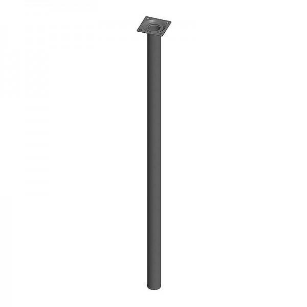 Ποδι Τραπεζιου Στρογγυλο Μεταλλικο Μαυρο Φ30x700mm