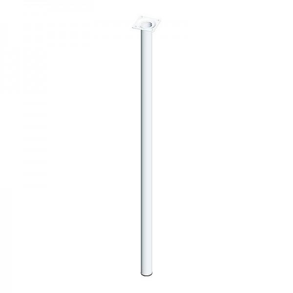 Ποδι Τραπεζιου Στρογγυλο Μεταλλικο Λευκο Φ30x800mm