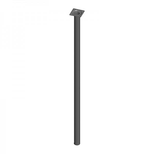 Ποδι Τραπεζιου Στρογγυλο Μεταλλικο Μαυρο Φ30x800mm