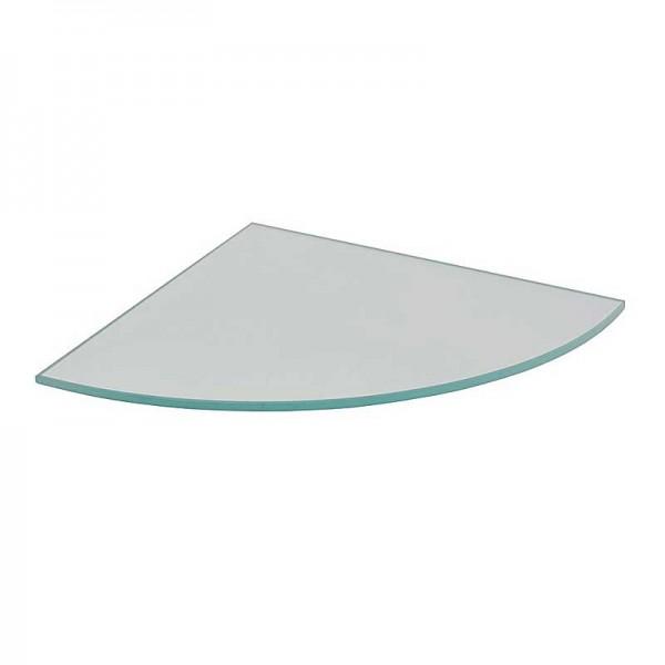 Ραφι Γυαλινο CORNER Διαφανο 250x250x6mm