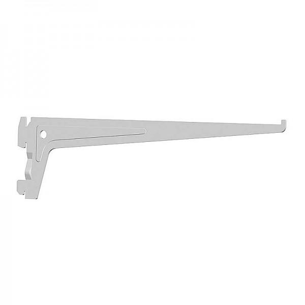 Βραχιονας Στηριξης Ραφιων 2 Αγκιστρων Λευκος 250mm