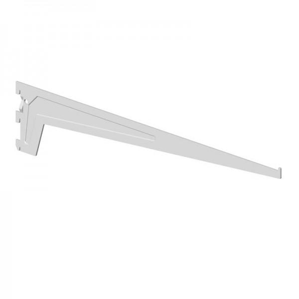 Βραχιονας Στηριξης Ραφιων 3 Αγκιστρων Λευκος 500mm