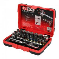 "KS Tools 918.3005 - Σετ Καρυδακια Μυτες Αλεν Torx Torsion 1/4"" 33 Τεμ"