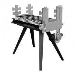 Ψησταρια Καρβουνου Φορητη με Ατερμονα και Μοτερ 82x50x93cm